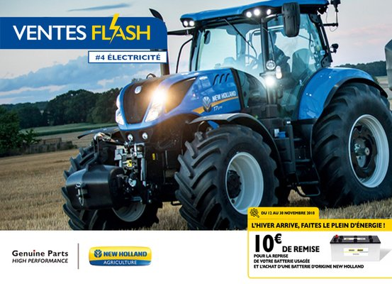 VENTES FLASH NEW HOLLAND N° 4 DU 12 AU 30 NOVEMBRE 2018