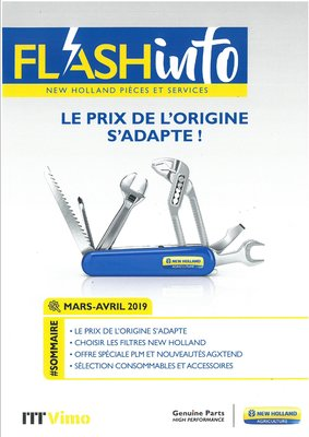 FLASH INFO NEW HOLLAND PIECES ET SERVICES